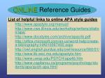 online reference guides
