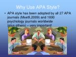 why use apa style