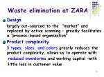 waste elimination at zara1
