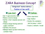 zara business concept