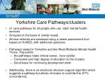 yorkshire care pathways clusters