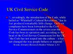uk civil service code