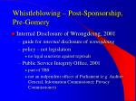 whistleblowing post sponsorship pre gomery