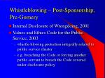 whistleblowing post sponsorship pre gomery1