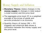 money supply and inflation