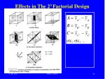 effects in the 2 3 factorial design