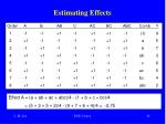 estimating effects