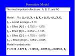 formulate model
