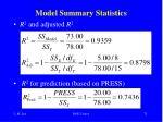model summary statistics