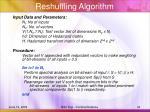 reshuffling algorithm