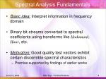 spectral analysis fundamentals