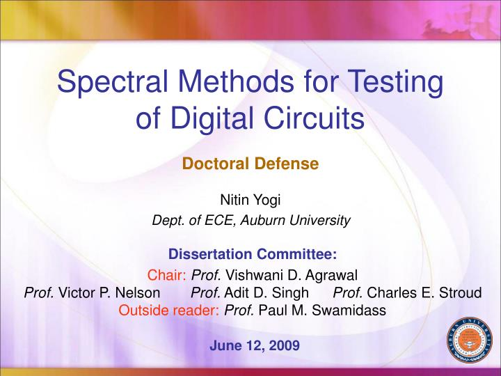 spectral methods for testing of digital circuits n.