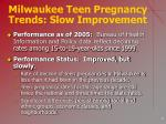 milwaukee teen pregnancy trends slow improvement