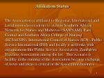 affiliation status