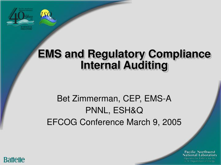 ems and regulatory compliance internal auditing n.