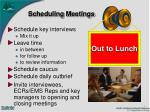 scheduling meetings