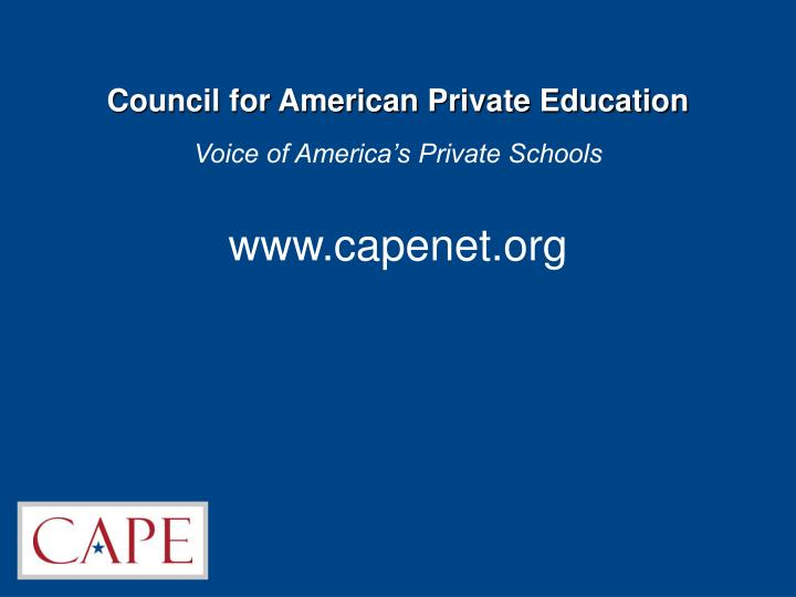 council for american private education n.