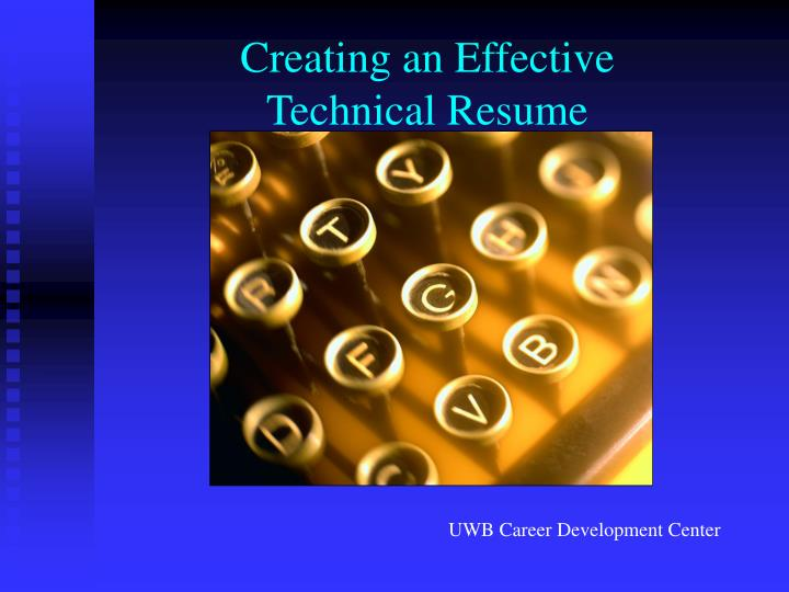 creating an effective technical resume n.
