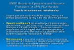 undp macedonia operational and resource framework for cpr pda mandate3