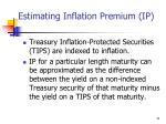 estimating inflation premium ip
