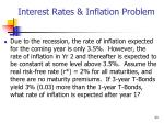 interest rates inflation problem
