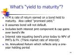 what s yield to maturity
