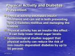physical activity and diabetes prevention