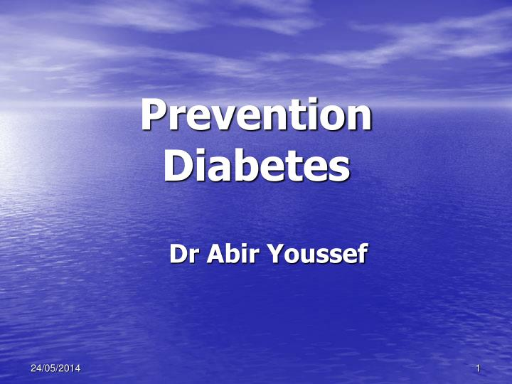 prevention diabetes n.