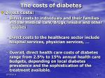 the costs of diabetes