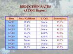 reduction rates acog report