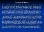 sample note