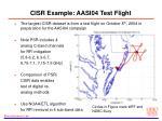 cisr example aasi04 test flight