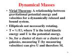 dynamical masses