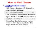 more on abell clusters
