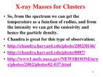 x ray masses for clusters6