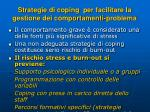 strategie di coping per facilitare la gestione dei comportamenti problema