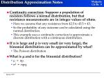 distribution approximation notes