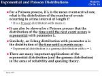 exponential and poisson distributions
