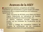 avances de la asey1