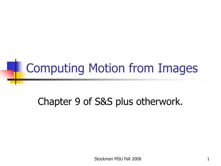 computing motion from images n.