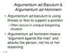 argumentum ad baculum argumentum ad hominem