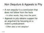 non sequiturs appeals to pity