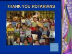 thank you rotarians