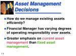 asset management decisions
