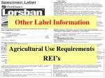 other label information