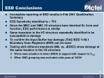 esd conclusions