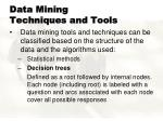 data mining techniques and tools