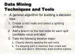 data mining techniques and tools2