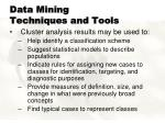 data mining techniques and tools6