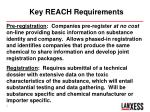 key reach requirements
